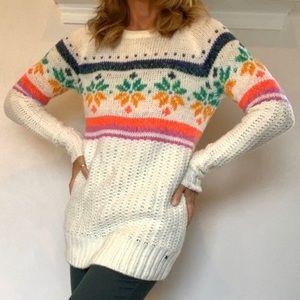 American Eagle Snowflake Jegging Sweater Sz XS